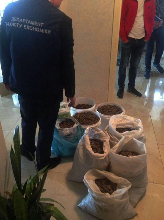 Ривненские полицейские изъяли из автомобиля 110 кг янтаря на 2 млн грн. ФОТОрепортаж