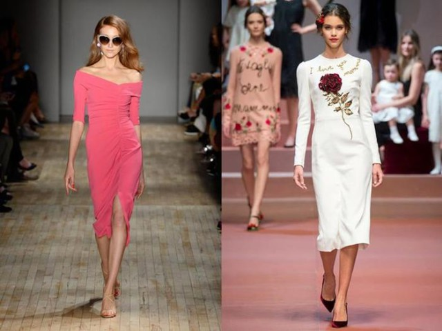 Самые модные платья осень зима 2015/16 года