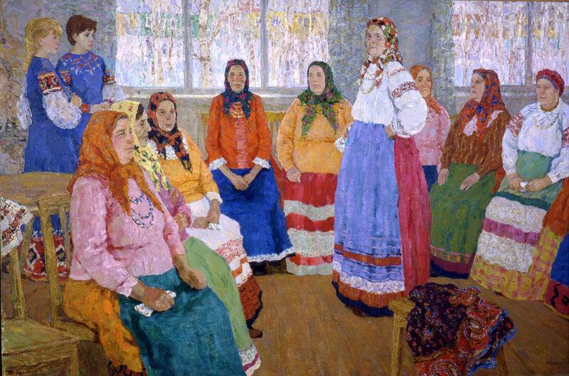 Е.В. Рябинский. Фольклорная группа Черняновского хора. 1972