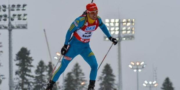 Дмитрий Пидручный пришел 9-м вспринте наКС побиатлону