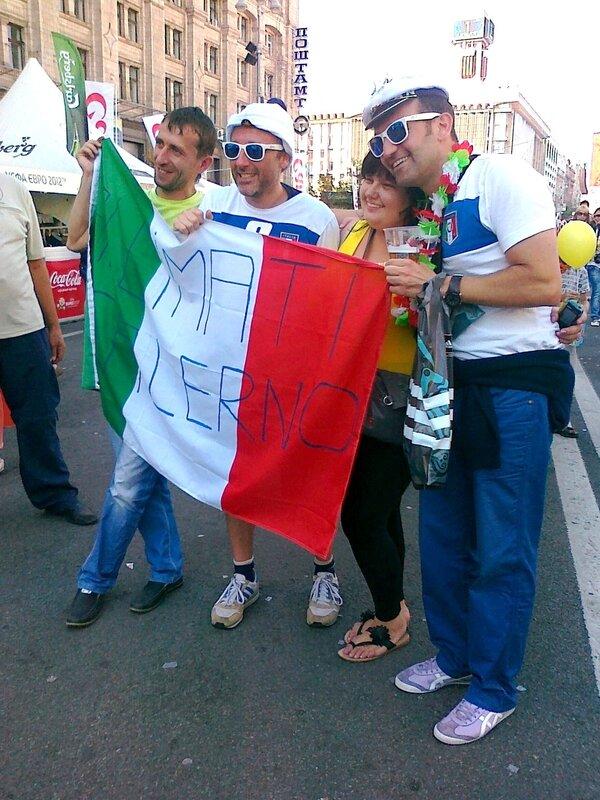 Итальянские фаны в Киеве