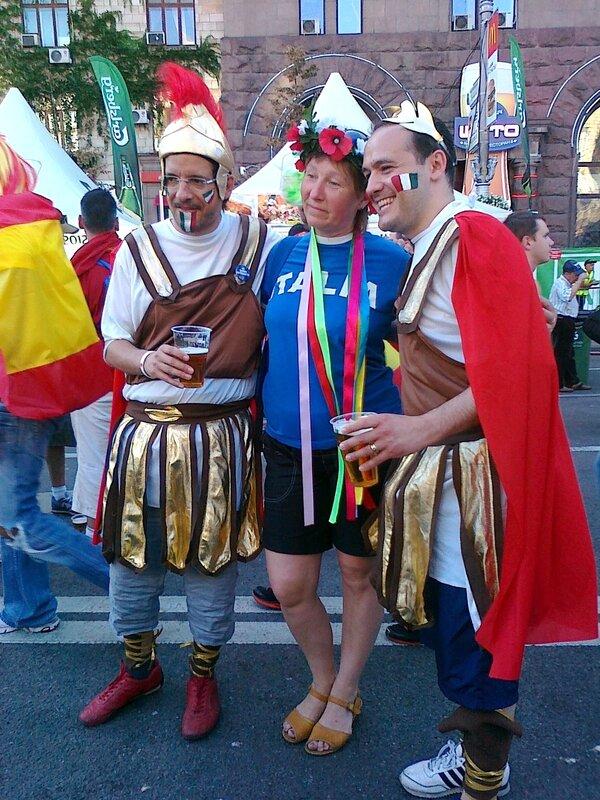 День финала Евро 2012 в Киеве