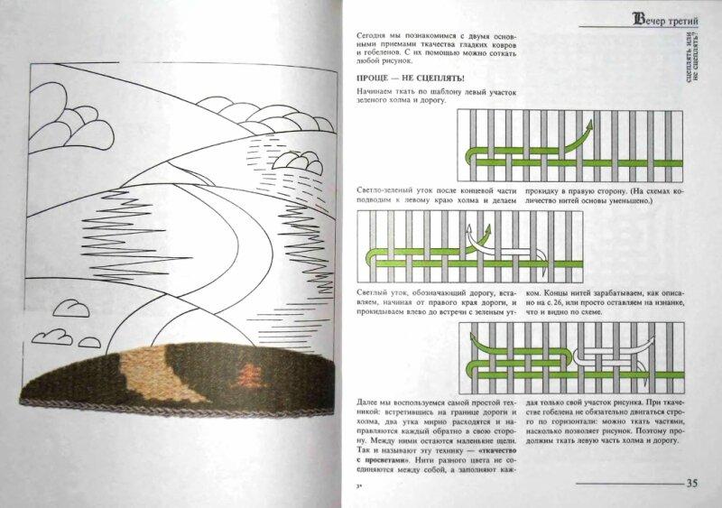 Плетение гобеленов схемы
