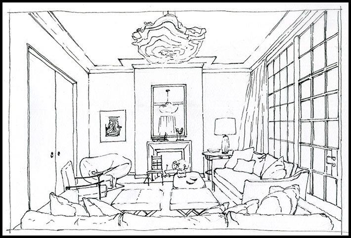 Схема рисования комнат