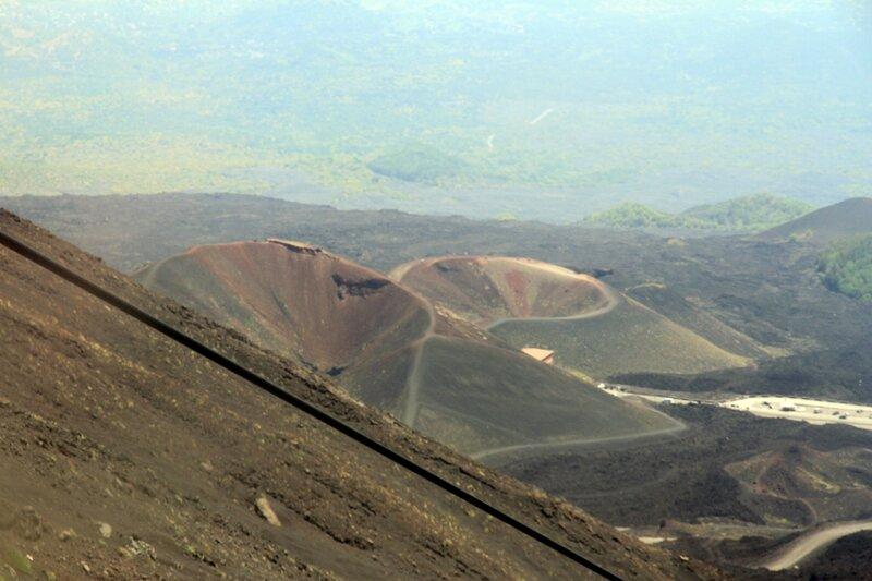 Сицилия, Этна, вид на боковые кратеры