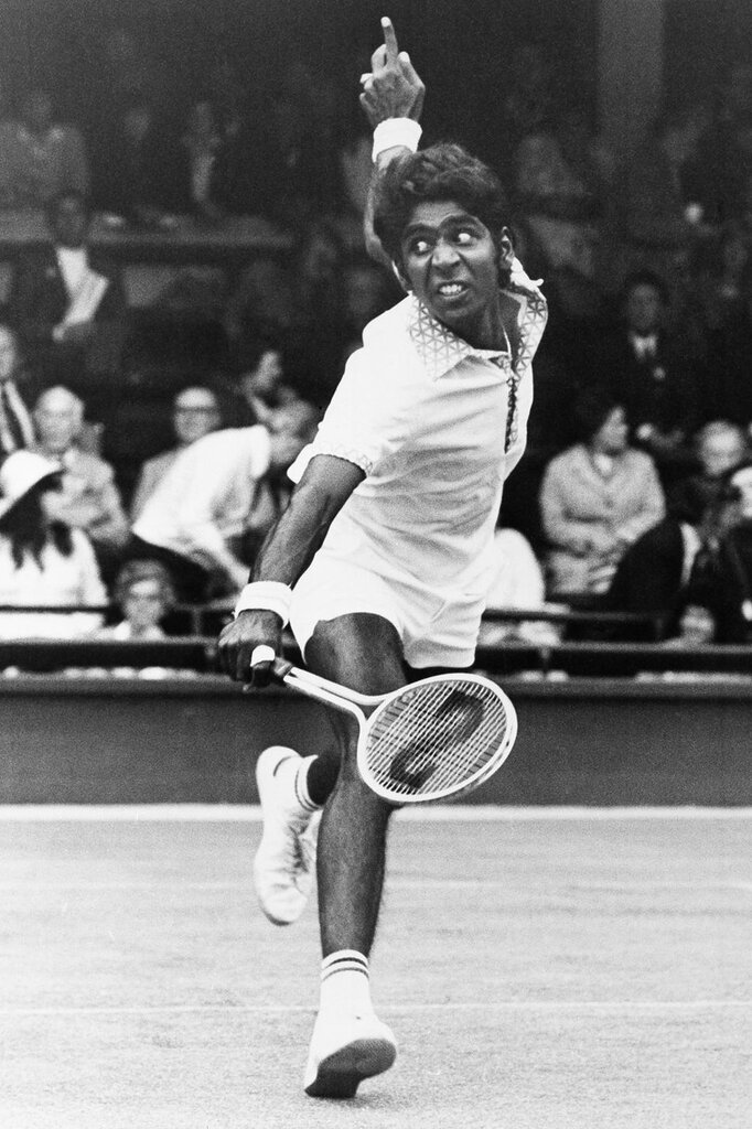 Indian tennis player Vimay Amritraj 1974