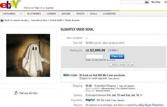 Американка выставила на аукцион eBay свою душу