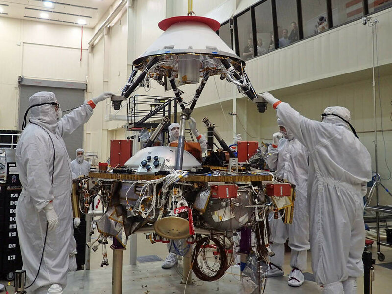 InSight parachute cone installation