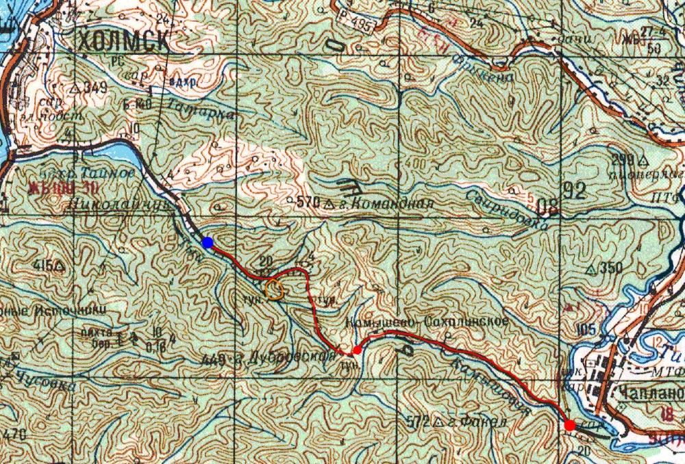 Карта маршрута 3 сентября