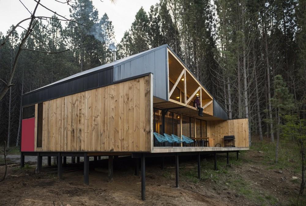 Резиденция на берегу реки в чилийской Патагонии