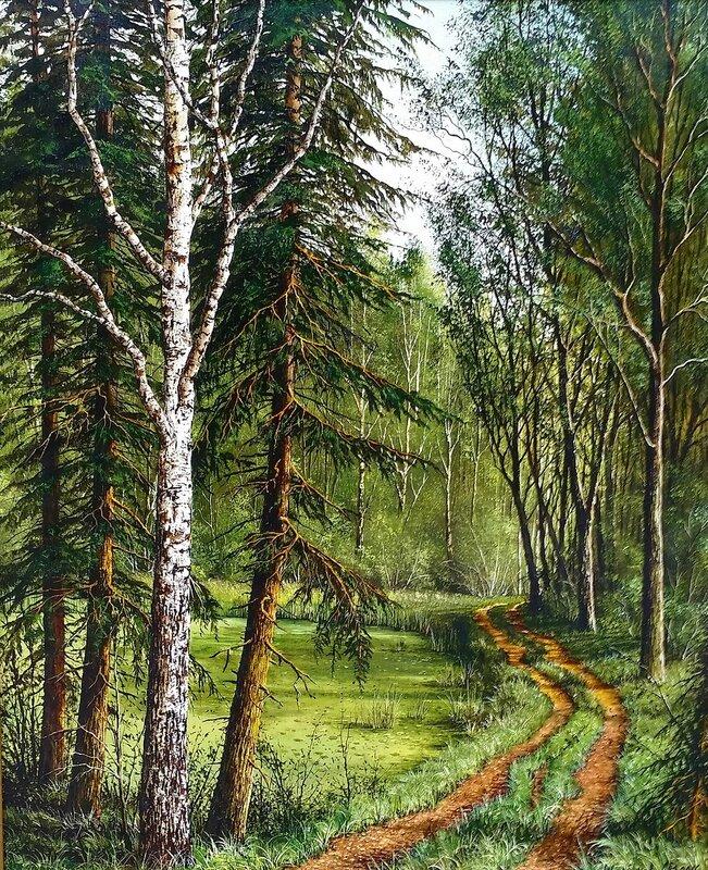 Лесной пейзаж ( лето )...