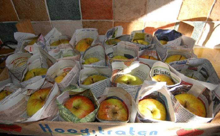 9. Овощебаза Чтобы фрукты быстрее зрели, тоже понадобятся старые газеты. Работа предстоит кропотлива
