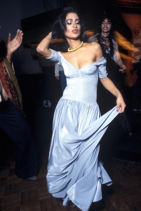 Девушка на танцполе Studio 54, 1977 год.