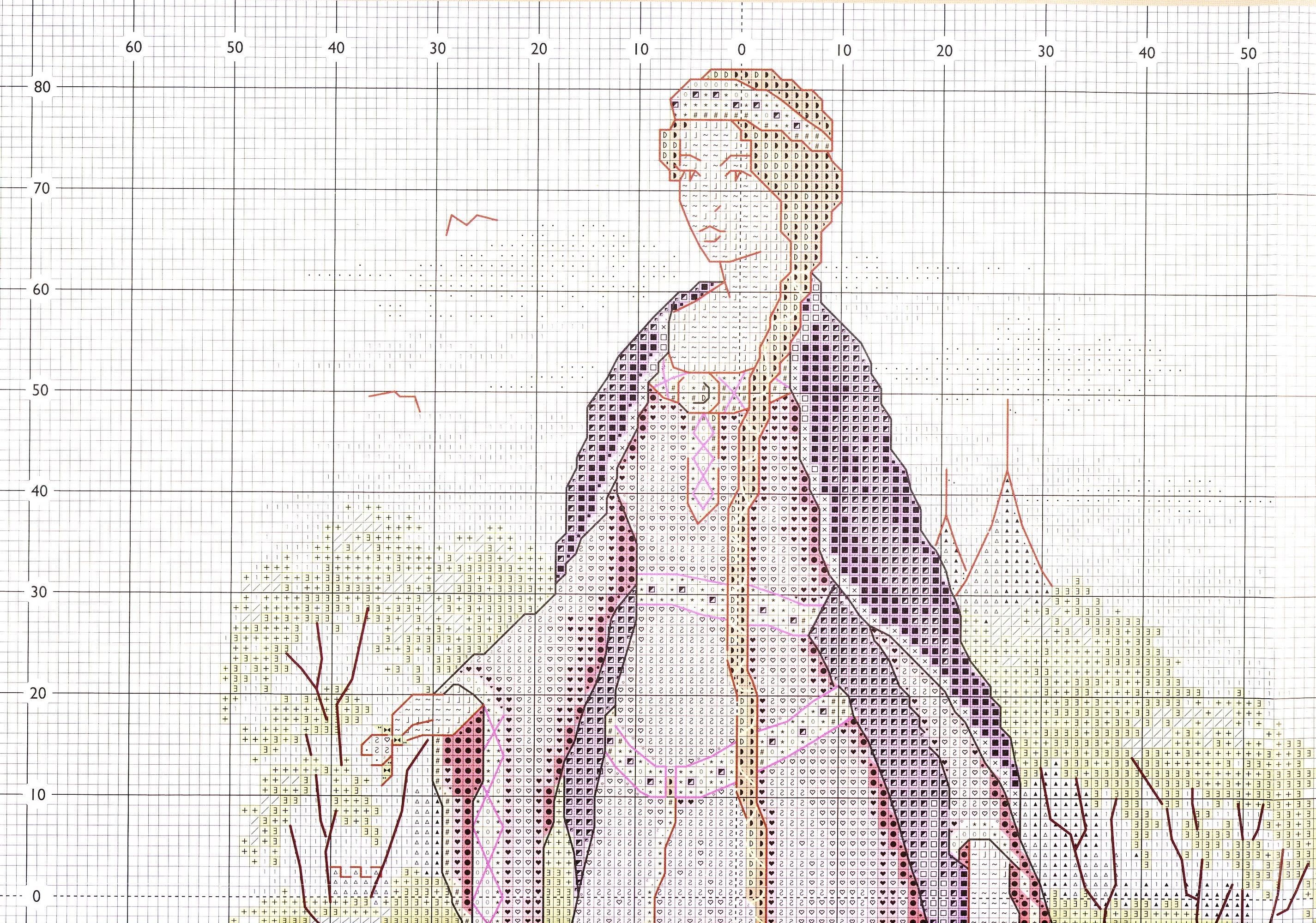 Схемы вышивки крестом из журналов как вышивать 571