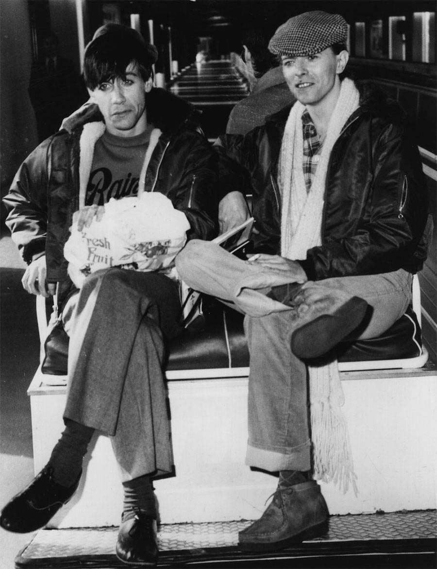 Mars 1977, Germany, with Iggy Pop