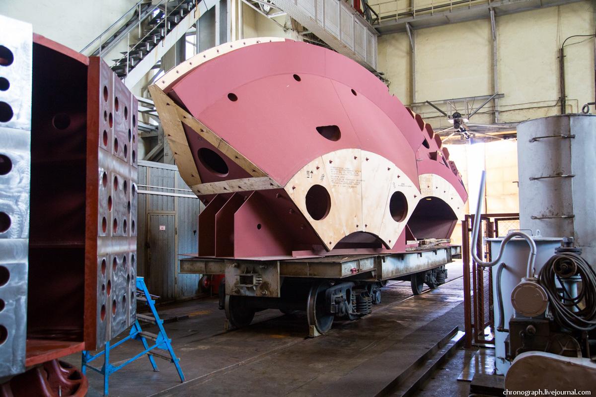 Монтаж рабочего колеса гидроагрегата №7 на Жигулёвской ГЭС 0_112360_5b9fc787_orig