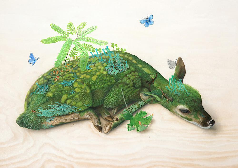 Pinturas Surreais em animais selvagens por Tiffany Bozic (9 pics)