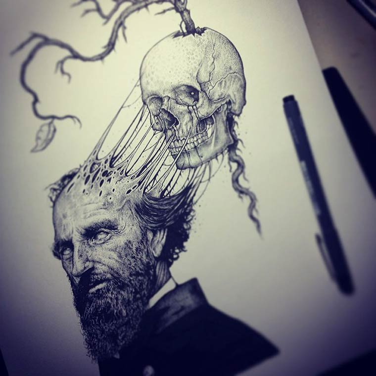 Skeletons - The illustrations by Paul Jackson