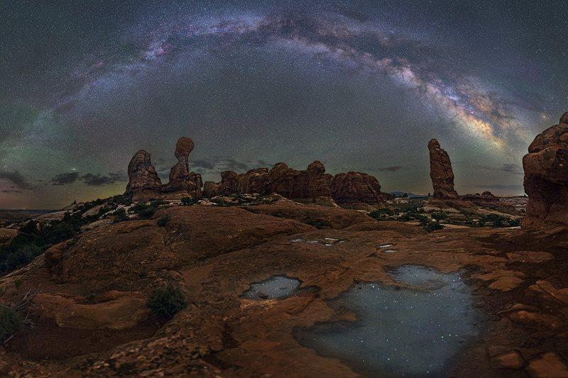 Фотосессия звездная арка фотографа Дэйва Лейна