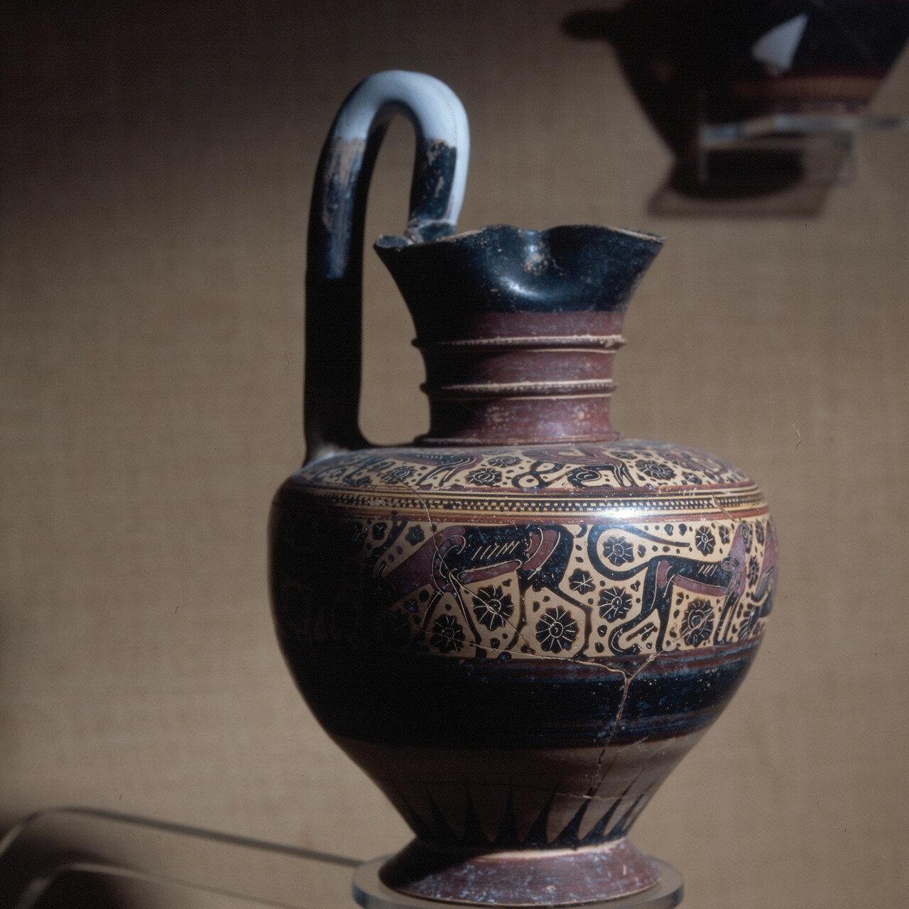 Родос, Археологический музей. Ваза в коринфском стиле. Конец VII в. до н.э.