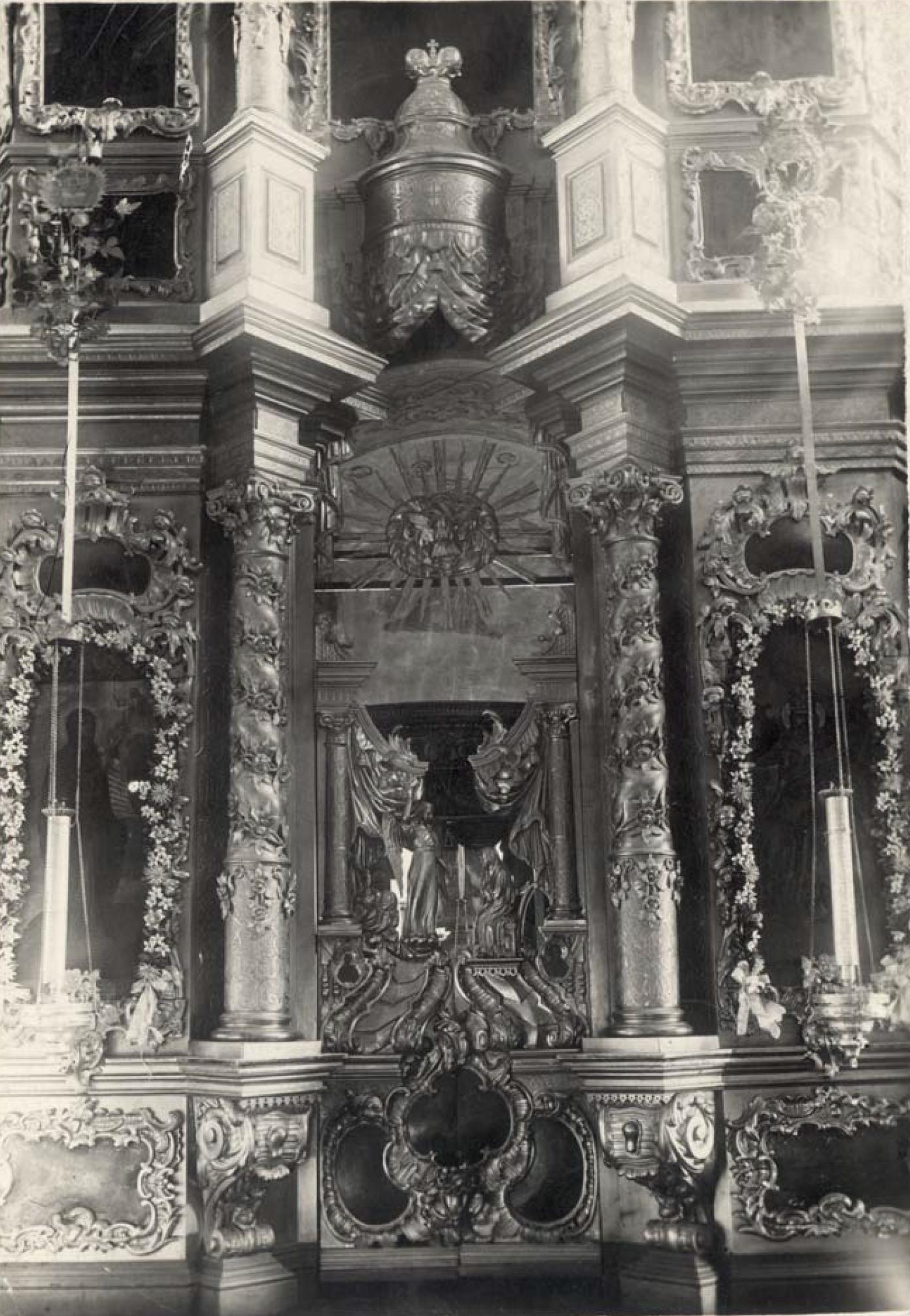 Никитская (Предтеченская) церковь 1765 г. Иконостас главной, Предтеченской, церкви (нижняя часть)