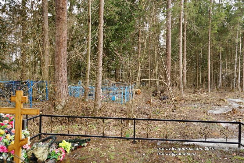 Древняя часть Крымского кладбища, обваловка