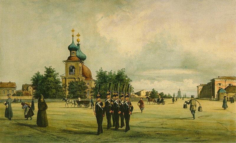 Троицкая площадь (в перспективе виден Смольный собор)