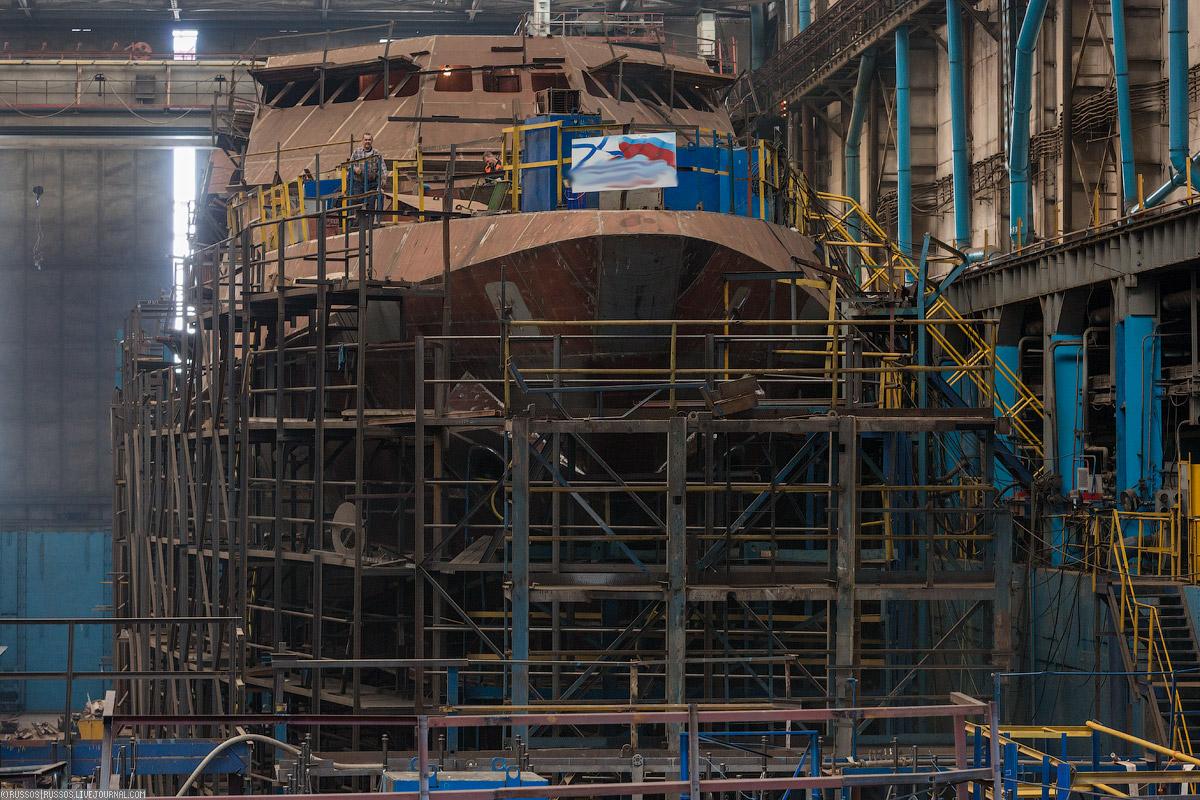 Пора на стапель! Сейчас там собирают корпус патрульного корабля (проект 22160) «Дмитрий Рогачев»