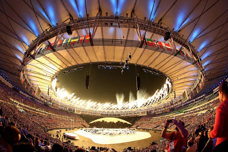 2. Историческая часть церемонии открытия Олимпийских игр 2016. (Фото Morry Gash | Reuters):