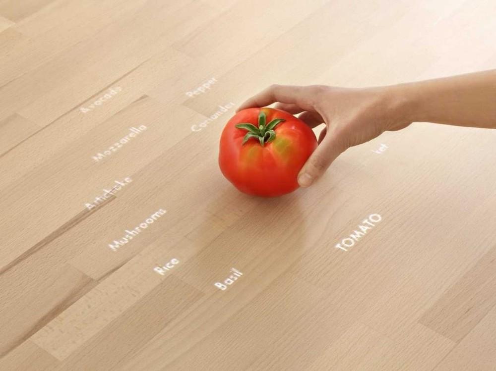 3. Рецепт показывается над столом, так что можете оставить свой iPad на диване.