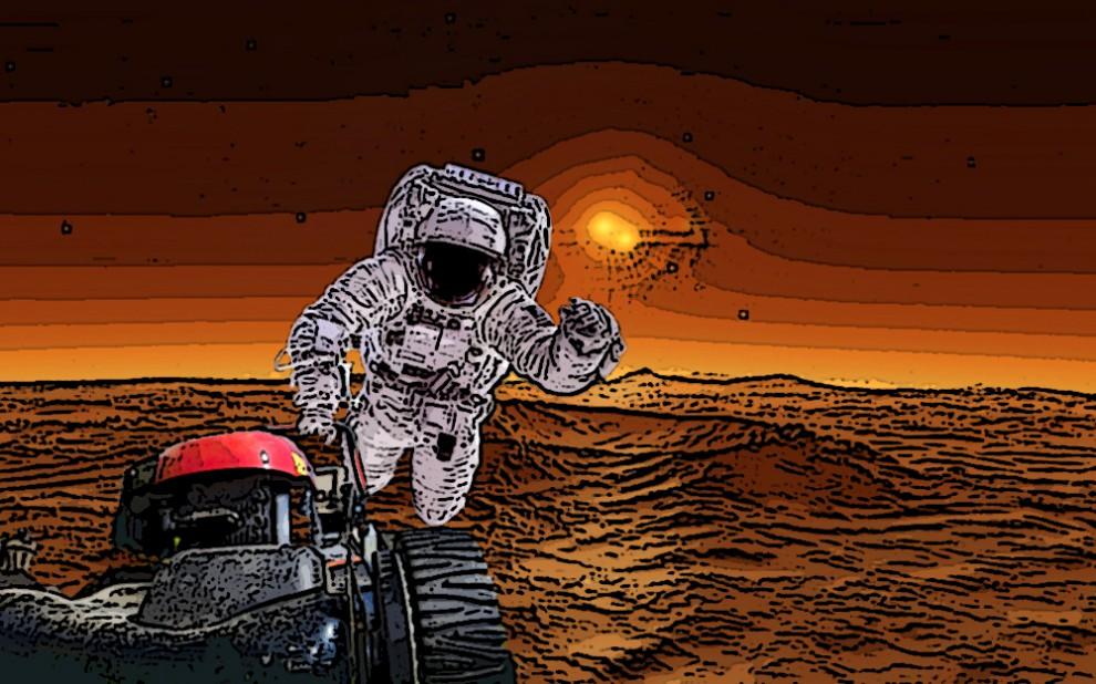 Исходя из низкой плотности атмосферы Марса, уже можно предположить, что звук там будет распространят