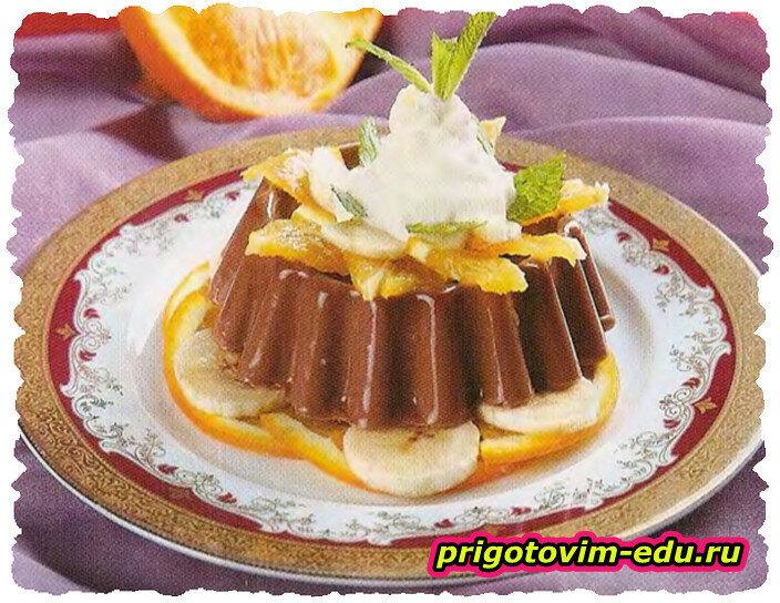 Шоколадно-фруктовое суфле