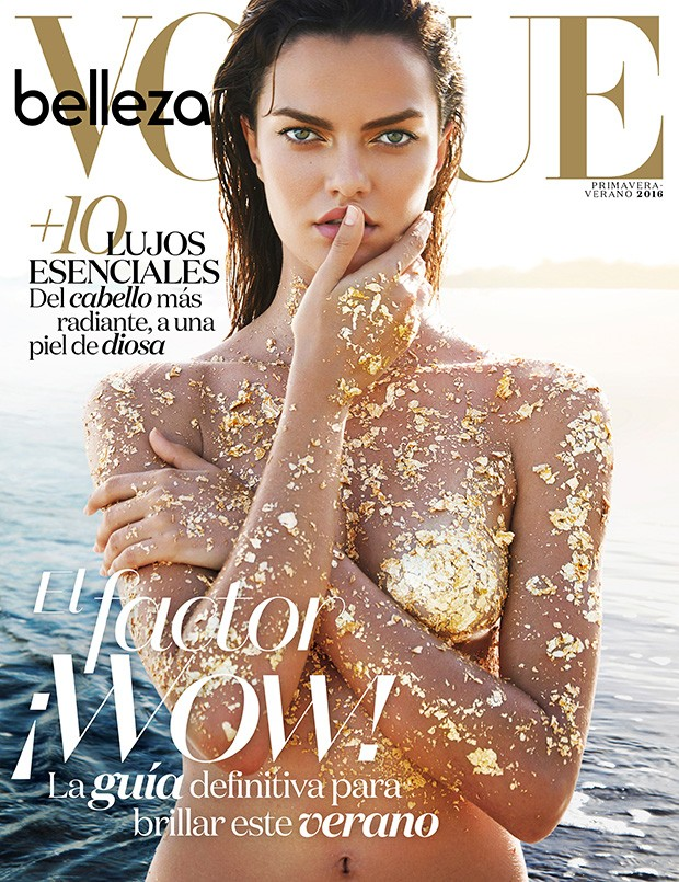Barbara Fialho by Enrique Vega for Vogue Mexico - Beauty Scene