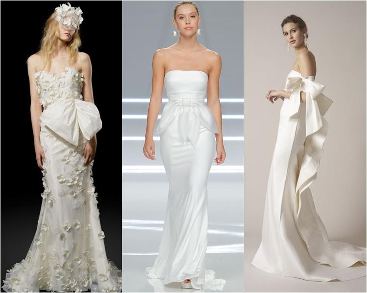 Модные свадебные платья весна-2017: большие банты