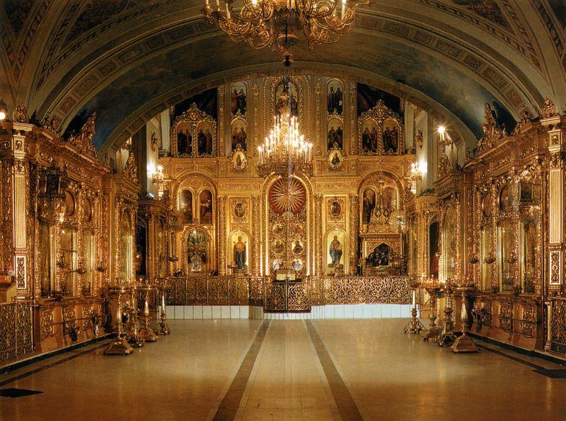 Иконостас Богоявленского кафедрального собора - главный Богоявленский придел..jpg