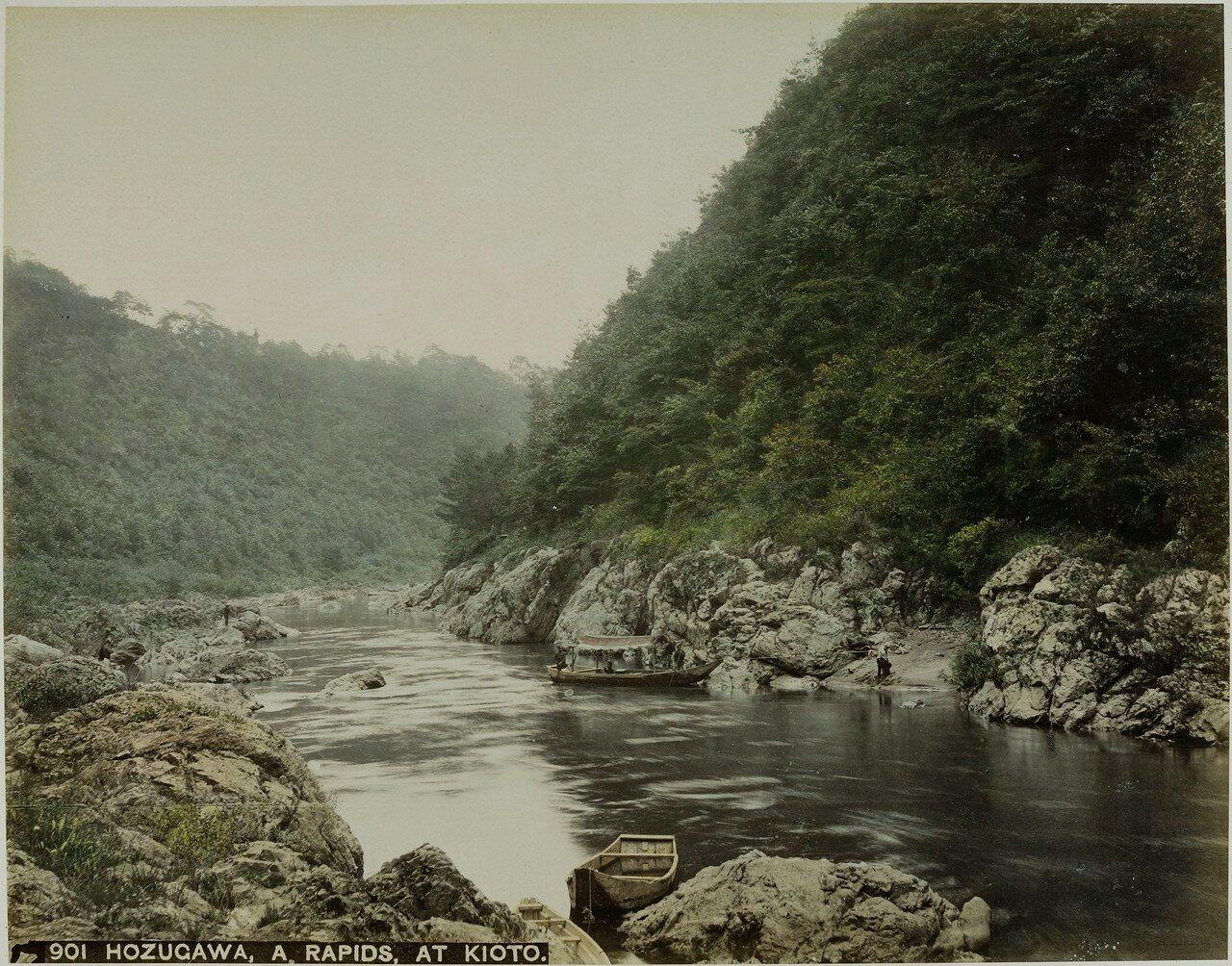 Окрестности Киото.  Река Хозугава