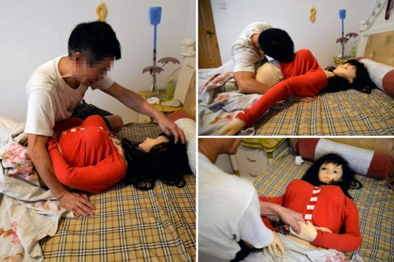 Китайский пенсионер живет с секс-куклой, он считает, что в ней обитает душа умершей жены