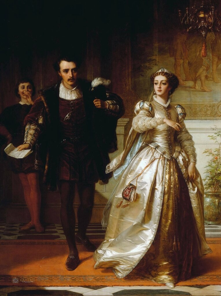 Томас Фрэнсис Дикси: Сцена из «Двух джентельменов из Вероны» Уильяма Шекспира (1564–1614)
