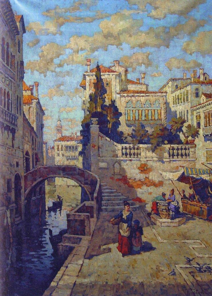 Набережная в Венеции. 1919Холст, маслоЧастное собрание