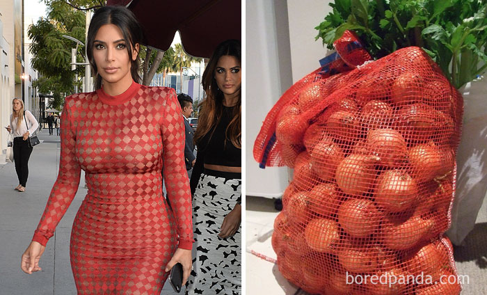 Ким Кардашьян или сетка с луком?