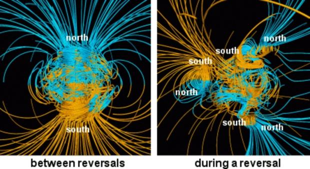 Ученые отыскали аномалию, которая вызывает разворот магнитного поля Земля