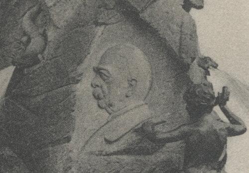 Bismarckbrunnen Flensburg - 1906 - Relief von Bismarck