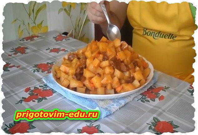 Мясное рагу с картошкой.Видео рецепт