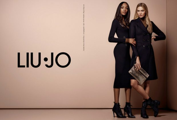 Supermodels Jourdan Dunn and Karlie Kloss reunites for Liu Jo 's Fall Winter 2016.17 Strong To