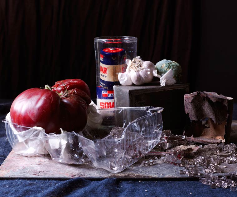 Recycled Beauty - Still lifes made of outdated vegetables and disposable objects
