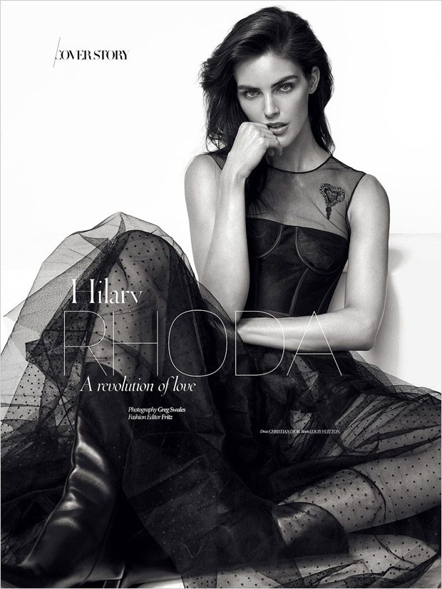 Hilary Rhoda Stars in Dress To Kill Magazine Spring 2017 Cover Story