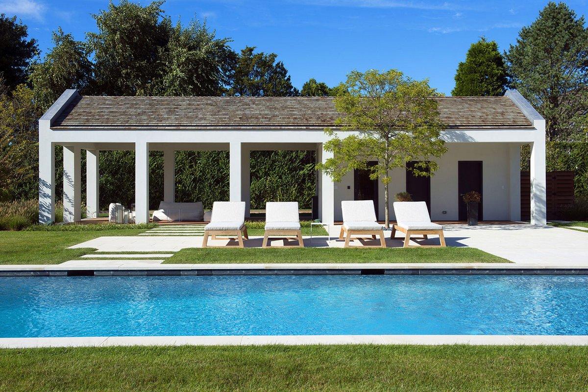 Blaze Makoid Architecture, Downs Path, летний домик в США, роскошный дом в Америке фото, американские дома с бассейном фото