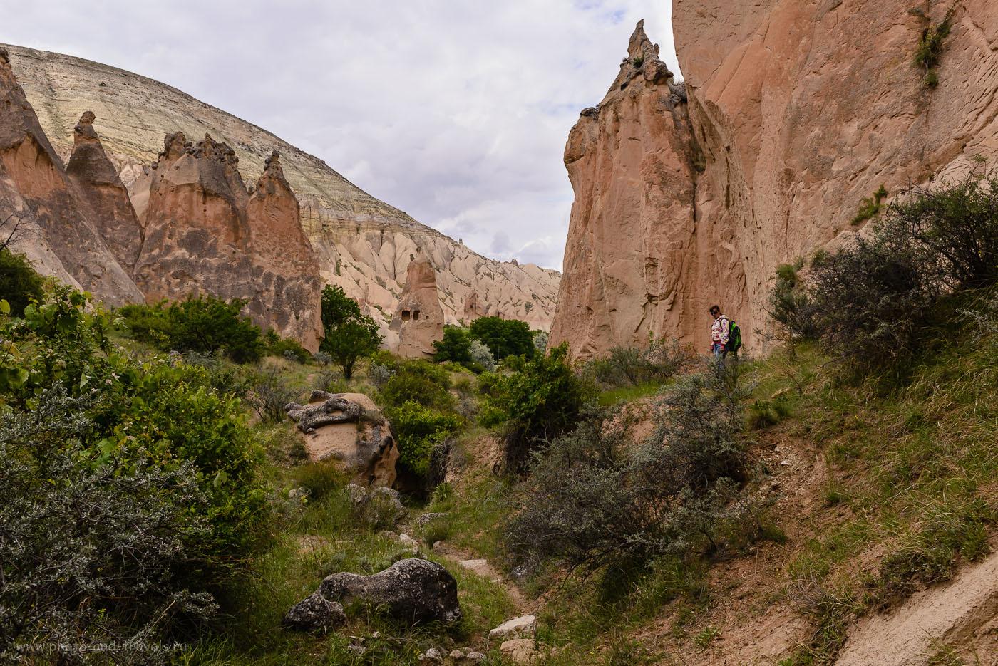 Фотография 12. Среди скал долины Зельве. На заднем плане – гора, по склону которой мы дошли сюда из Пашабага (Paşabağı Vadisi). 1/640, -1.33, 8.0, 160, 26.
