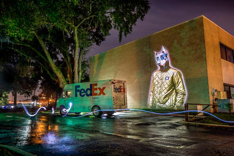 Urban Safari - Julien Nonnon projects his awesome animals on the walls of Orlando