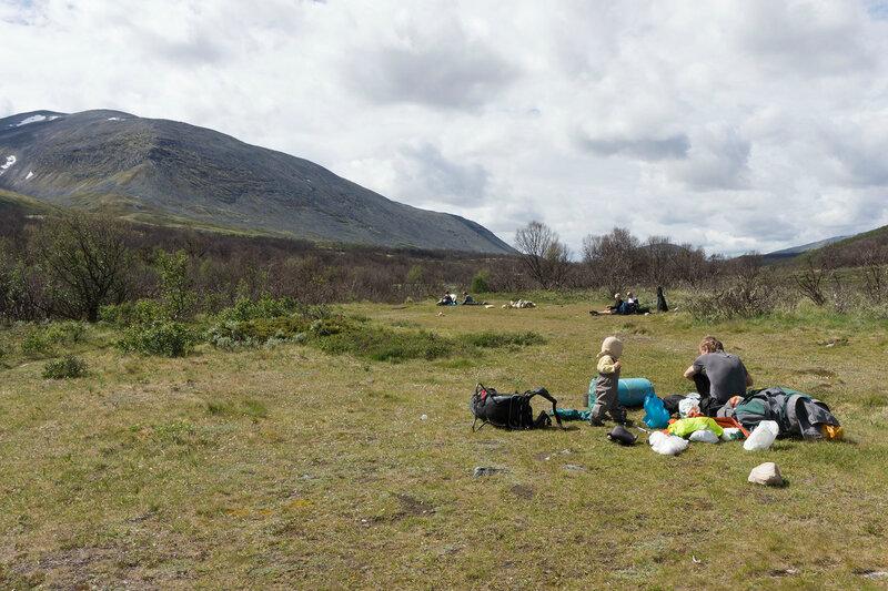 поляны для стоянки и обеда в долине Haverdalen